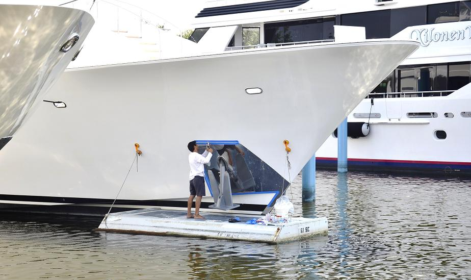 Exterior And Detailing Cleaning Laundry For Yacht Boat